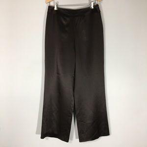 Talbots Pure Silk Tuxedo Waist Slacks